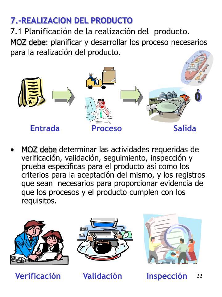 7.-REALIZACION DEL PRODUCTO
