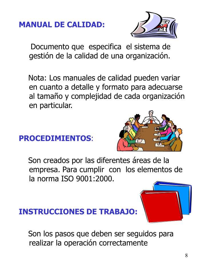 MANUAL DE CALIDAD: