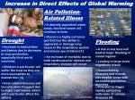 increase in direct effects of global warming