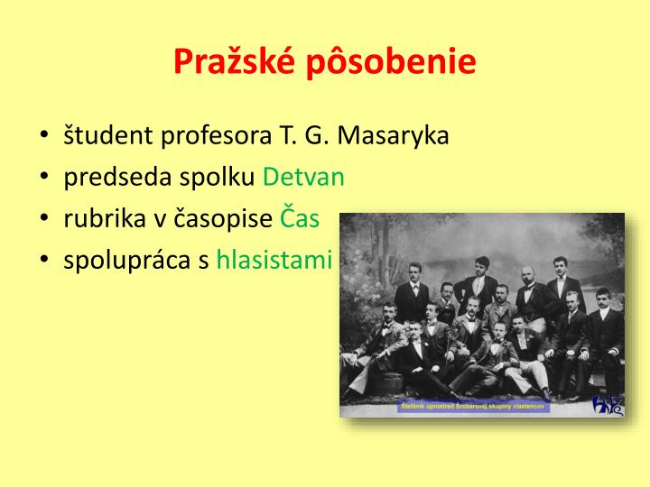 Pražské pôsobenie