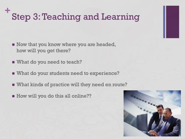 Step 3: Teaching and Learning