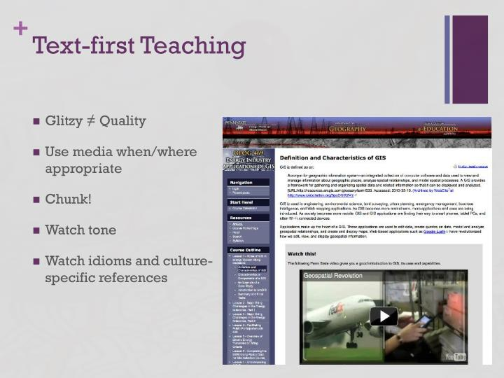 Text-first Teaching