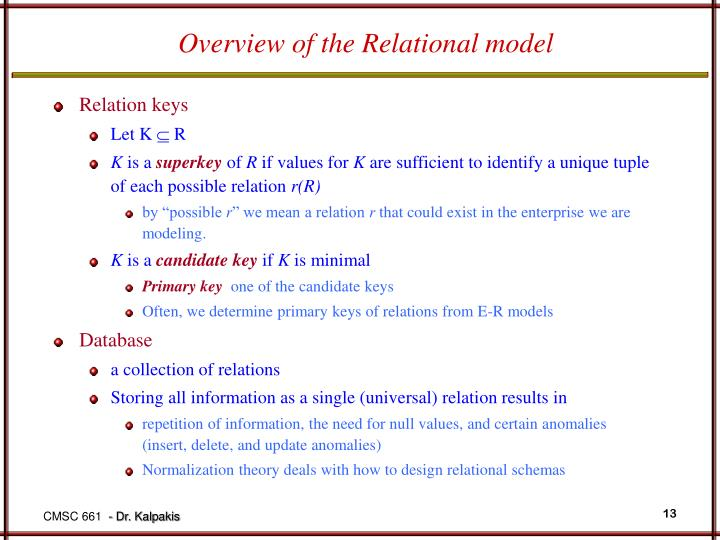 Overview of the Relational model