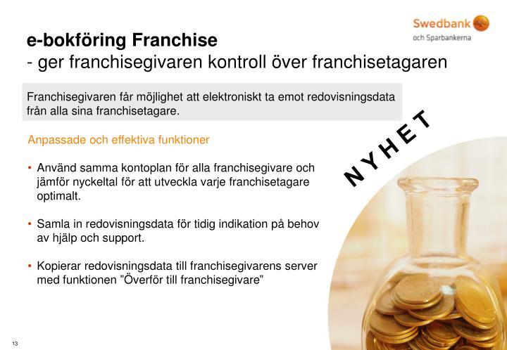 e-bokföring Franchise