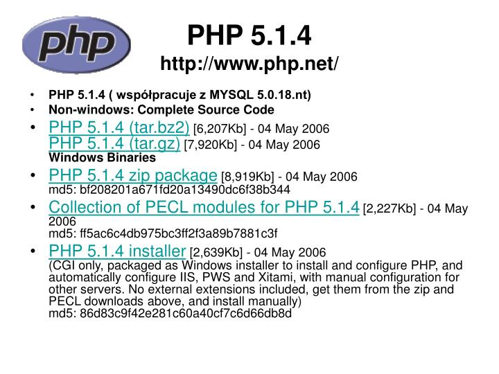PHP 5.1.4