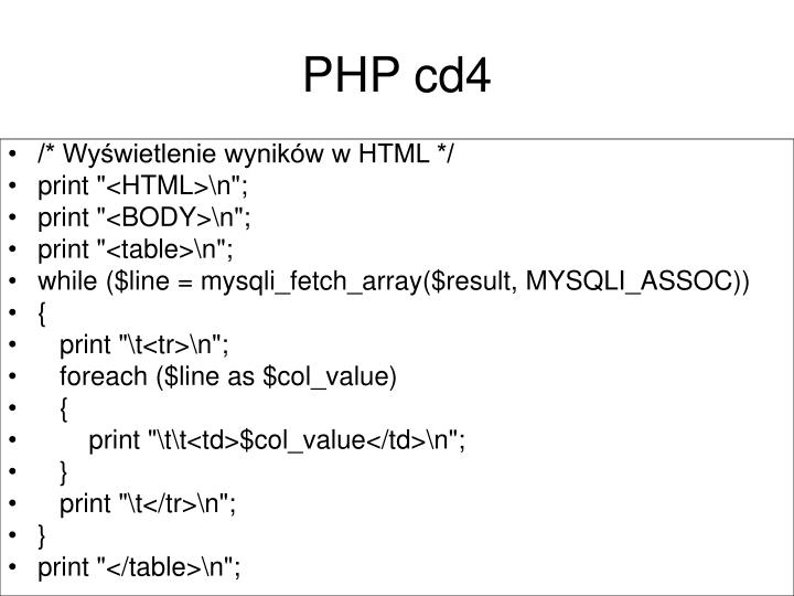 PHP cd4