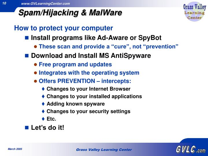 Spam/Hijacking & MalWare