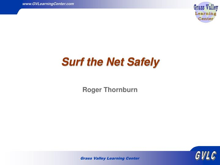Surf the net safely
