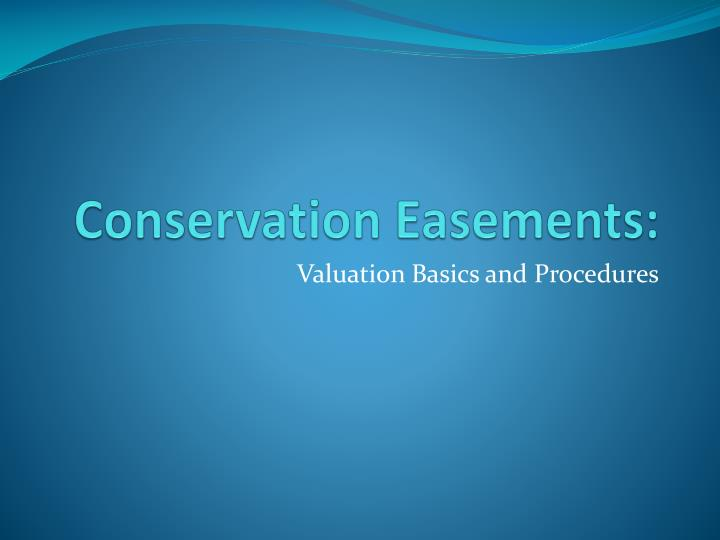 Conservation easements