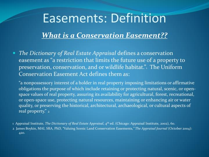 Easements: Definition