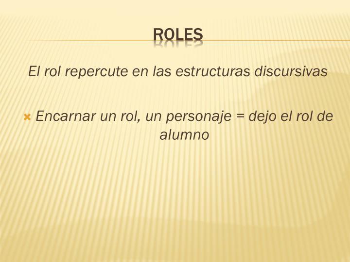 El rol repercute en las estructuras discursivas