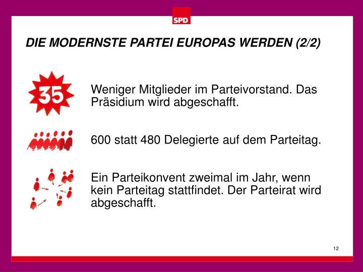 DIE MODERNSTE PARTEI EUROPAS WERDEN (2/2)