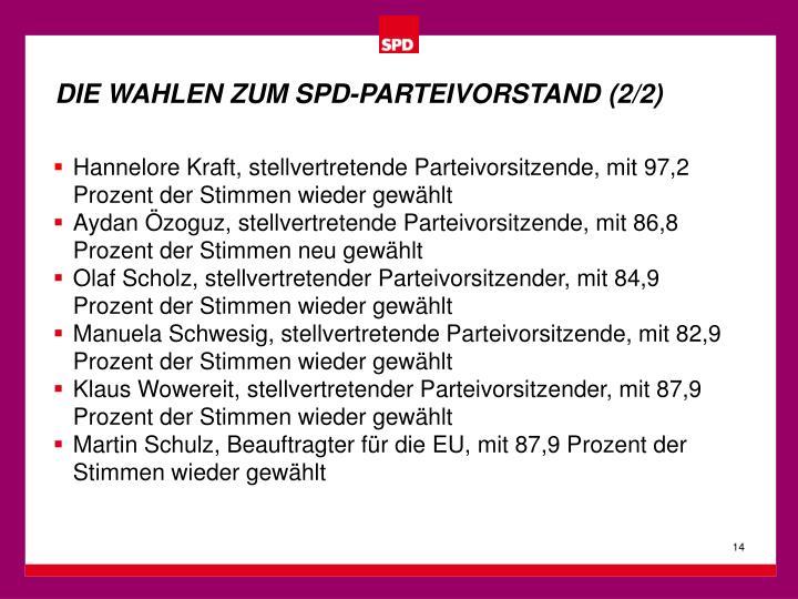DIE WAHLEN ZUM SPD-PARTEIVORSTAND (2/2)
