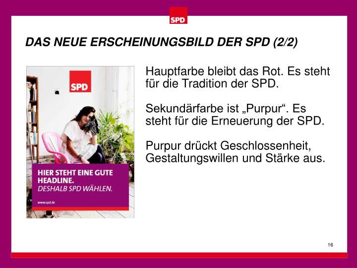 DAS NEUE ERSCHEINUNGSBILD DER SPD (2/2)