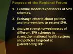 purpose of the regional forum