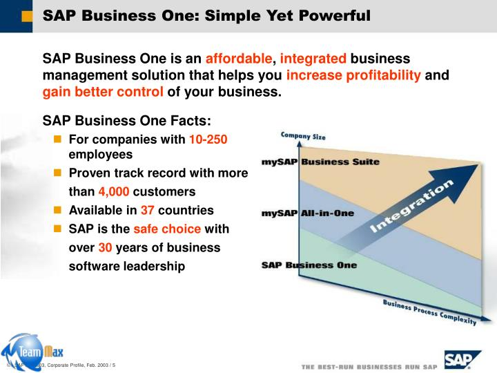 SAP Business One: Simple Yet Powerful