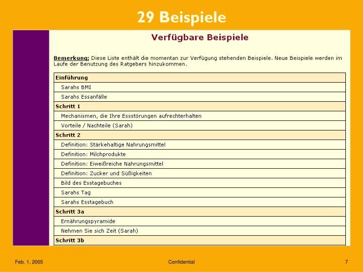 29 Beispiele