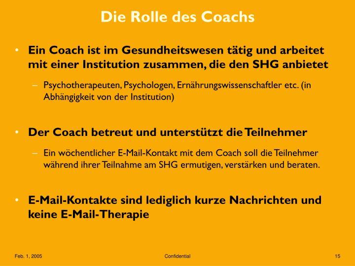 Die Rolle des Coachs