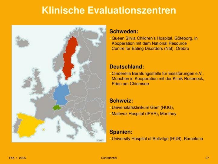 Klinische Evaluationszentren