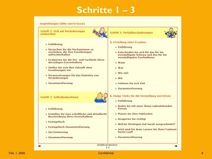 Schritte 1 – 3