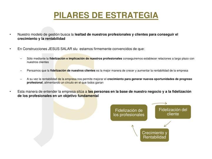 PILARES DE ESTRATEGIA