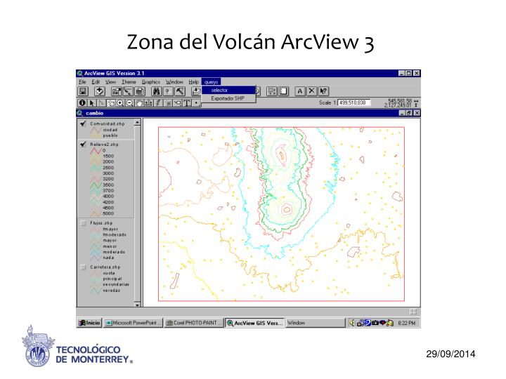 Zona del Volcán ArcView 3