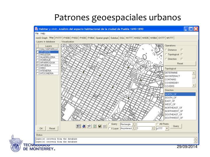 Patrones geoespaciales urbanos