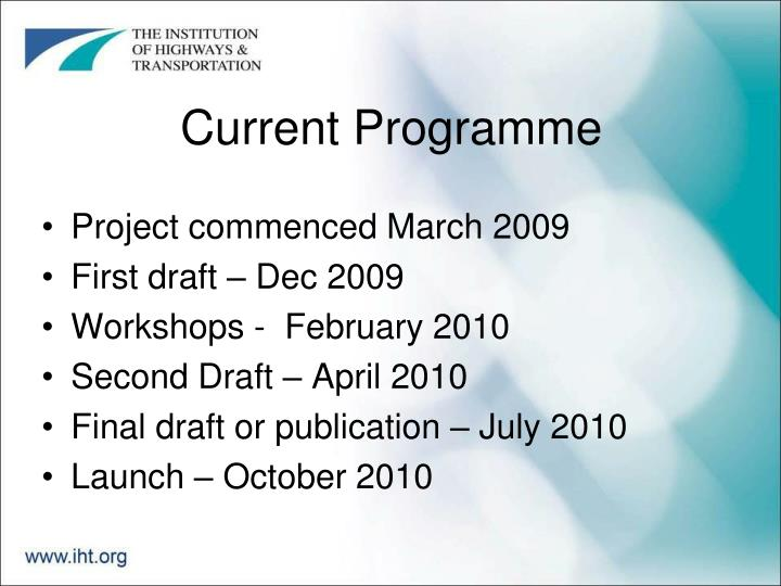 Current Programme