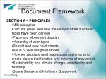 document framework