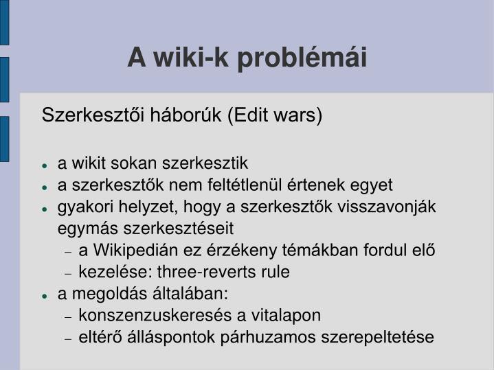 A wiki-k problémái