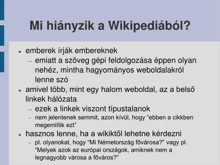 Mi hiányzik a Wikipediából?