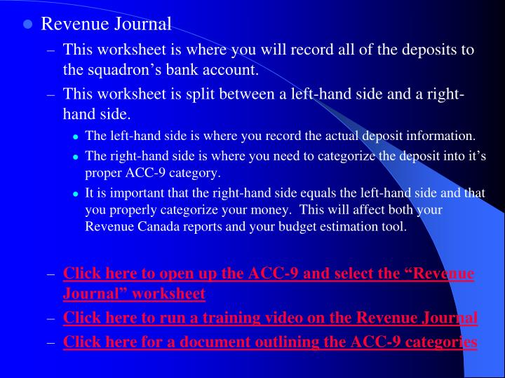 Revenue Journal