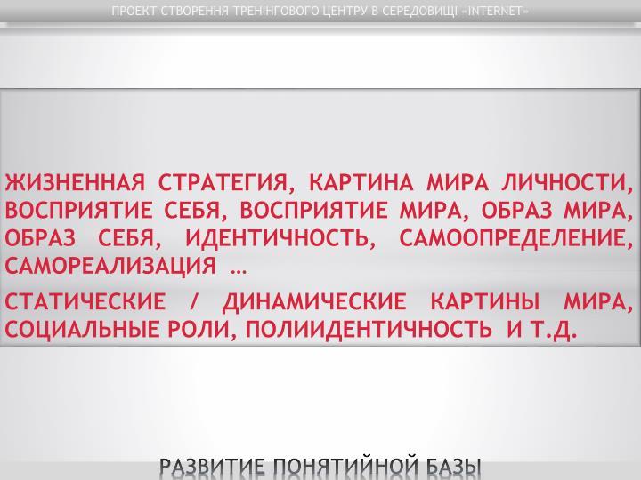 ПРОЕКТ СТВОРЕННЯ ТРЕНІНГОВОГО ЦЕНТРУ В СЕРЕДОВИЩІ «