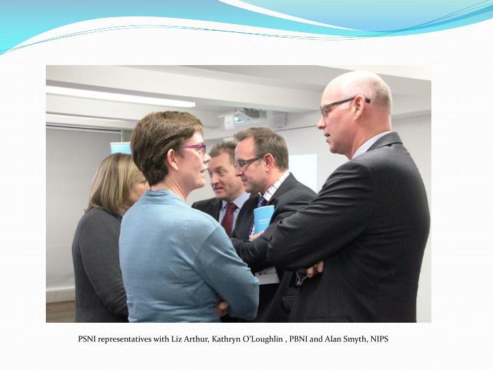 PSNI representatives with Liz Arthur, Kathryn O'Loughlin , PBNI and Alan Smyth, NIPS