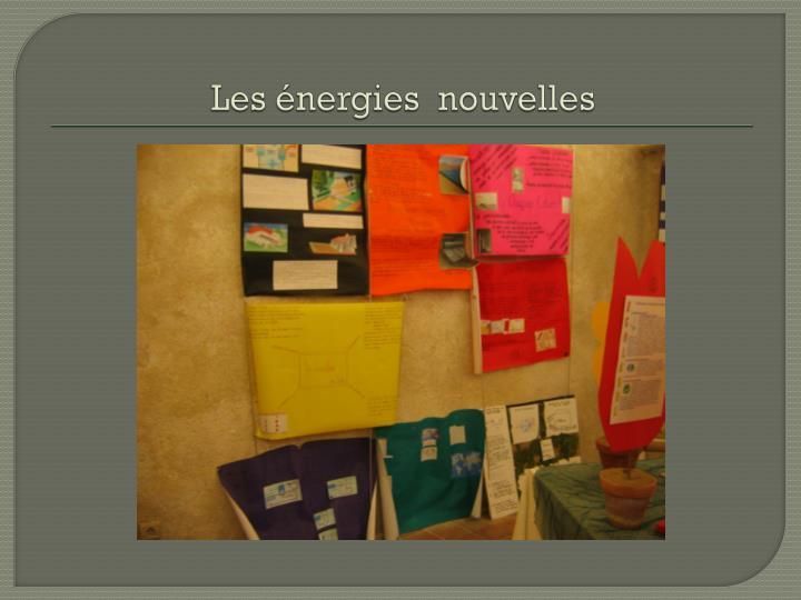 Les énergies  nouvelles