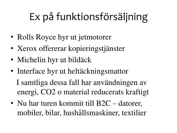 Ex på funktionsförsäljning