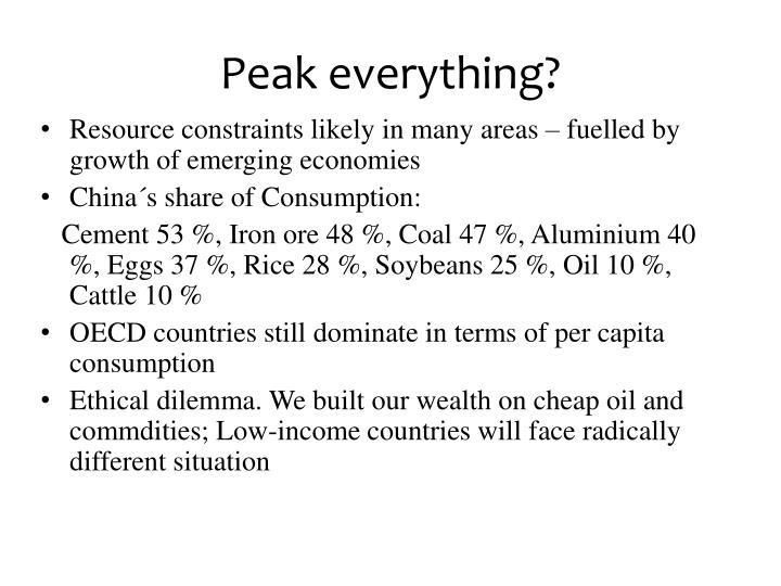 Peak everything?