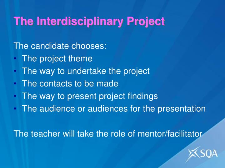 The Interdisciplinary Project