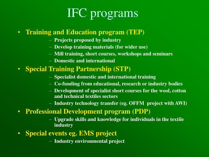 IFC programs