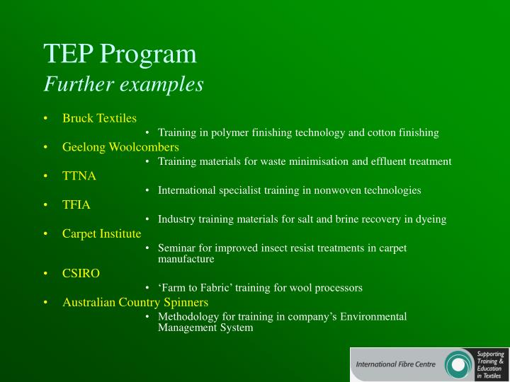 TEP Program