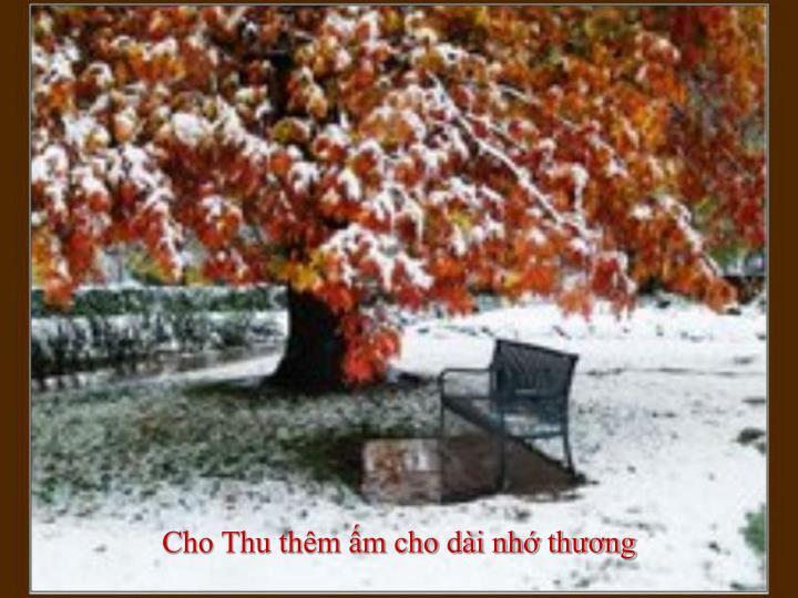 Cho Thu thêm ấm cho dài nhớ thương
