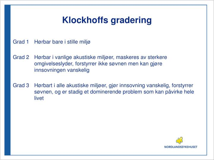 Klockhoffs gradering