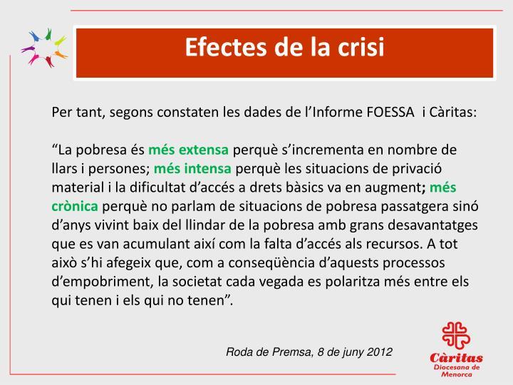 Efectes de la crisi