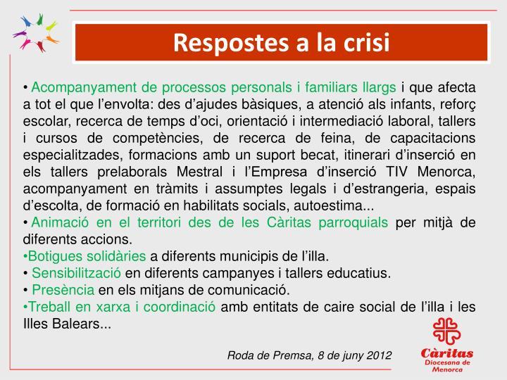 Respostes a la crisi
