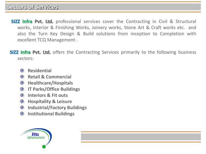 Sectors of Services