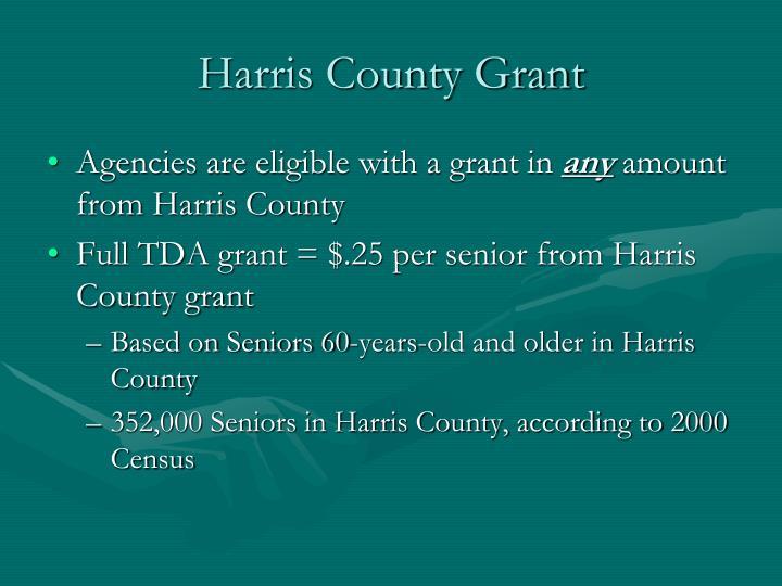 Harris County Grant