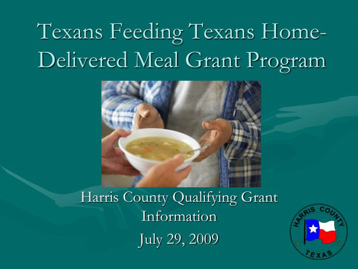 Texans feeding texans home delivered meal grant program
