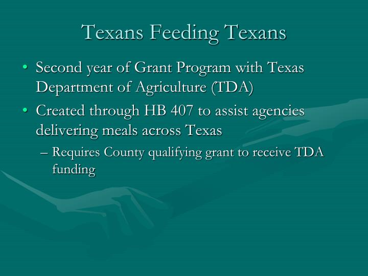 Texans Feeding Texans
