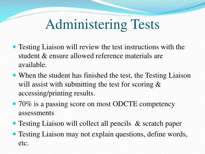 Administering Tests