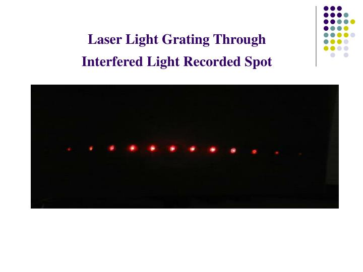 Laser Light Grating Through Interfered Light Recorded Spot